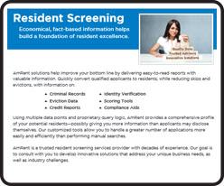 Resident Screening