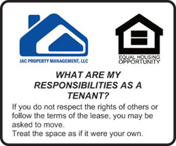 My responsibility as a tenant